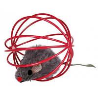 TRIXIE (Трикси) Мышка в шарике-клетке 6см - игрушка для кошек