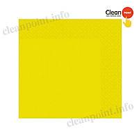 Серветки столові жовті 24*24 целюл. 2-х шарові, 40 шт/пач Clean Point