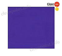 Серветки столові сині 33*33 целюл. 2-х шарові, 200 шт/пач Clean Point