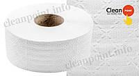 Туалетний папір Джамбо 2-х шаровий целюл., Jumbo Lux Medium +, 857 відривів Clean Point