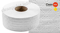Туалетний папір Джамбо 1-но шаровий рецик., Jumbo Standard Medium, 120 м Clean Point