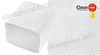 Туалетний папір листовий V-складання Lux Medium,2-х шар.,целюл., суцільне тиснення,160 шт/пач Clean Point