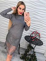 Очень красивое платье с кружевом по низу (разные цвета)
