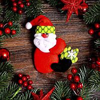 Новогоднее украшение Дед Мороз и Снеговик с ёлкой