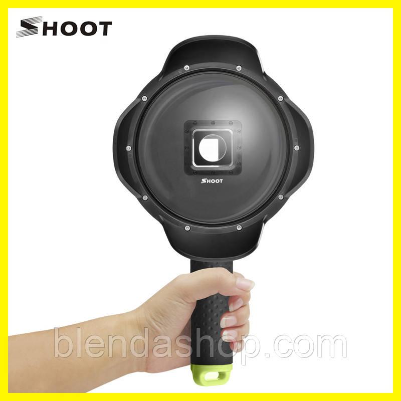 Подводный бокс DOME PORT от SHOOT для камеры Xiaomi YI II 4K, 4K Plus, YI Lite (код № XTGP314B)