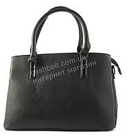 Женская удобная вместительная сумка среднего размера art. 71380 черная