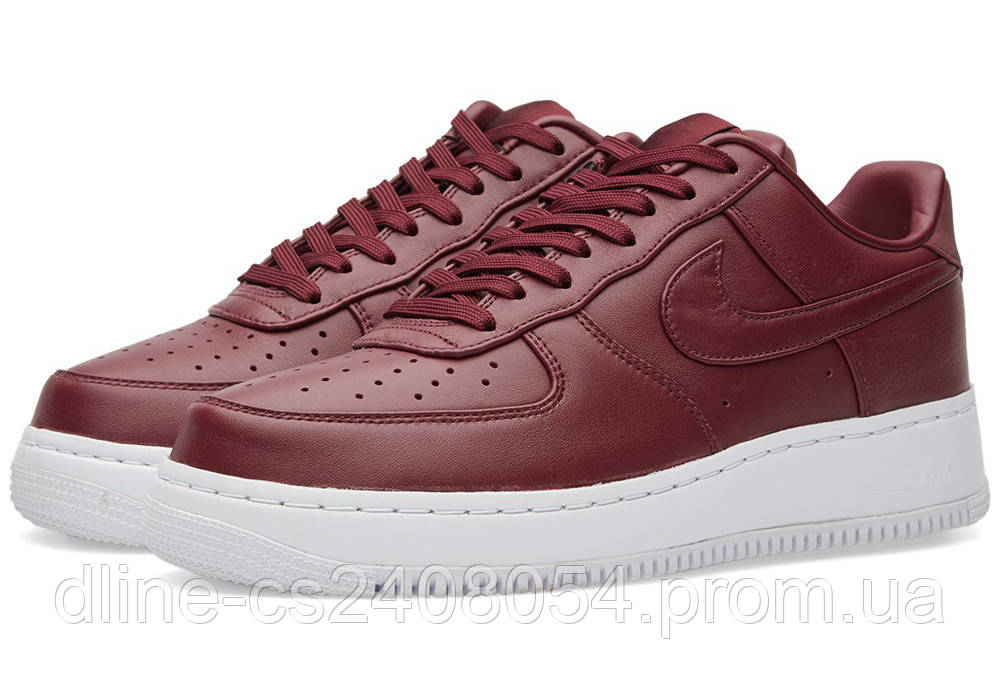 Женские кроссовки Nike Air Force Low Night Maroon Red