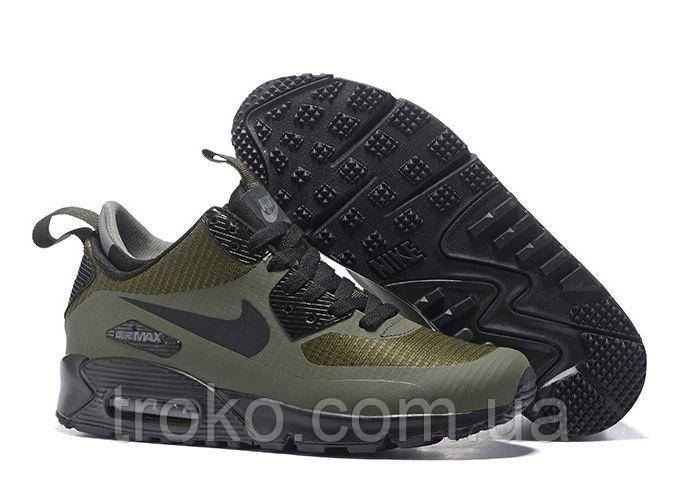 a4a61973 мужские кроссовки Nike Air Max 90 Mid Winter 806808 300 цена 1 555. кроссовки  Nike Air Max 90 Winter Sneakerboot Black Reflective