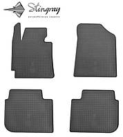 Kia cerato 2013- водительский коврик черный в салон.