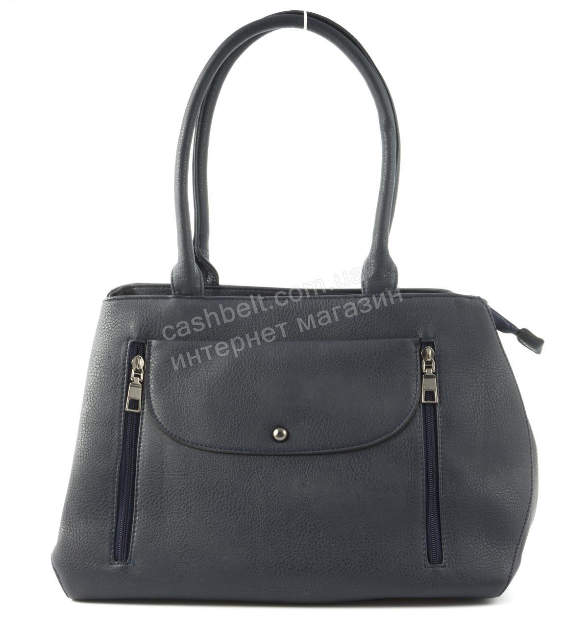 Женская удобная вместительная сумка среднего размера art. 2198-6 синяя