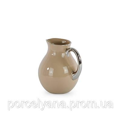 Ваза керамический кувшин 170мм с серебром Anlux