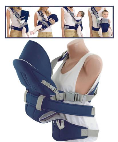 Эрго-рюкзак для переноски малышей TRAUM 7008-10, цвет синий. (Вес до 20кг)