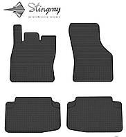 Volkswagen golf vii 2013- комплект из 4-х ковриков черный в салон.