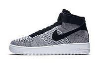 Мужские кроссовки Nike Air Force 1 Ultra Flyknit Gray/White
