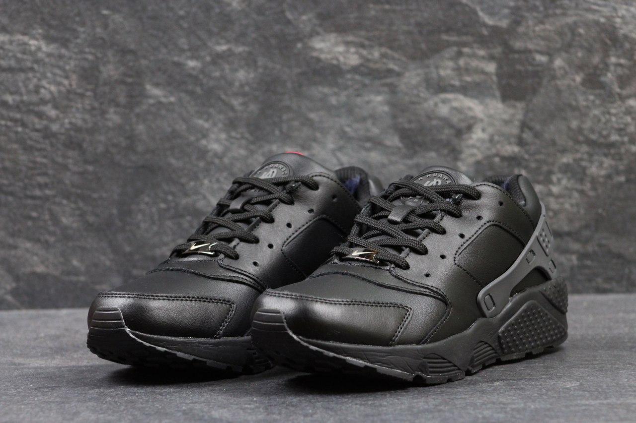 Мужские зимние кроссовки Nike Huarache черные 45,46р