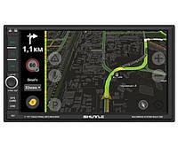 Автомагнитола Андроид GPS SDUA-7050 Black/Green MP5 ресивер, SHUTTLE