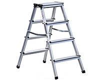Двухсторонняя алюминиевая лестница Olympos 2x4 ступени