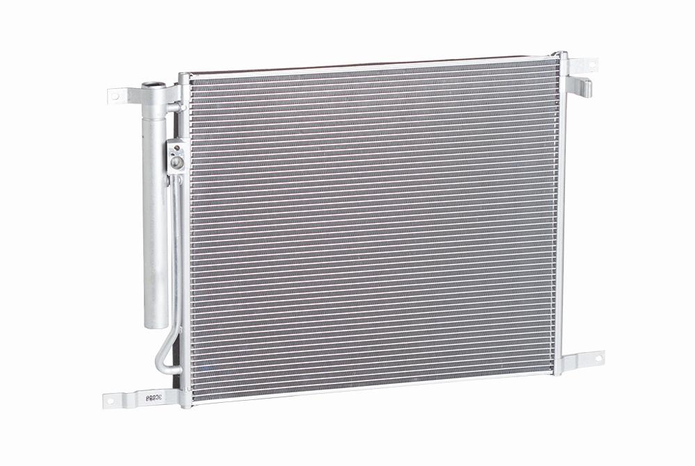 Радиатор кондиционера Aveo / Авео T255 c -08г. с ресивером МКПП Лузар, LRAC 0581
