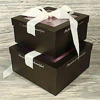 Подарочная коробка для цветов 10241-9 С ДЕФЕКТОМ (2 шт.в комплекте)