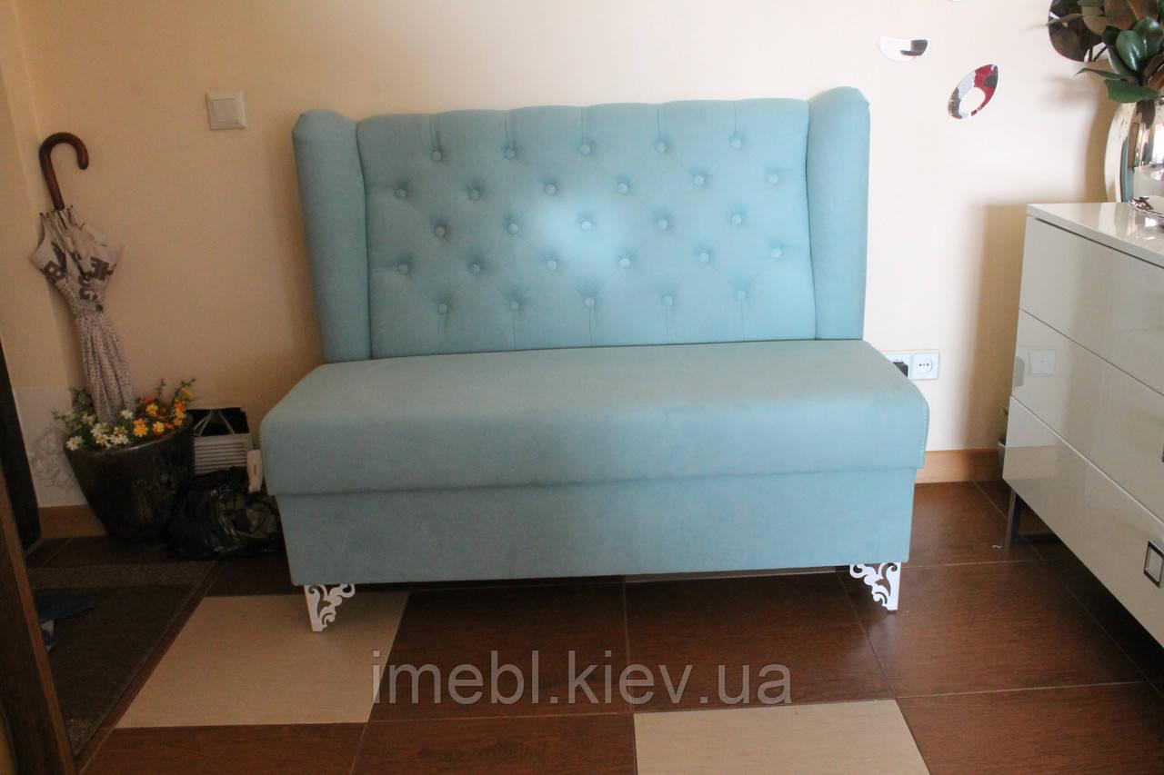 мягкий диванчик в прихожую бирюзовый цена 5 700 грн купить с