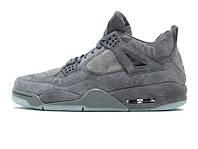 Баскетбольные кроссовки Nike Air Jordan 4 Retro Kaws Cool Grey White