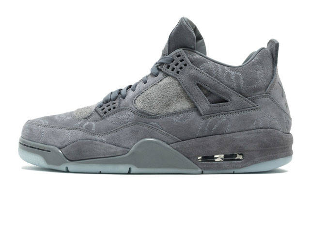 Баскетбольные кроссовки Nike Air Jordan 4 Retro Kaws Cool Grey White  (Реплика ААА+) 1420e99f992