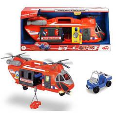 Вертолет Dickie Toys Спасательная служба с машинкой со светом и звуком (3309000)