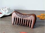 Гребень деревянный из сандала редкие зубья, фото 2
