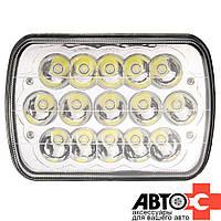 Фара LED Прямоугол 45W 9-32V 200*148*75mm Ближний+Дальний врезная (1шт)