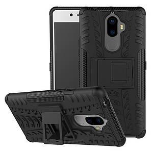 Чехол накладка для Lenovo K8 Note противоударный с подставкой, черный