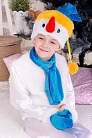 Детский карнавальный костюм для мальчика и девочки Снеговик