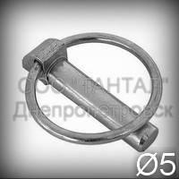 Шплинт с кольцом 5 оцинкованый DIN 11023