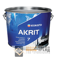 TM Escaro Akrit 7 - моющаяся шёлковоматовая краска для стен (ТМ Эскаро Акрит 7), 9,5 л.