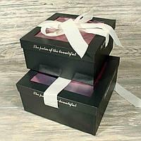 Подарочная коробка для цветов 10241-8 С ДЕФЕКТОМ (2 шт.в комплекте)