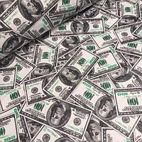 Фланель с купюрами доллары №742