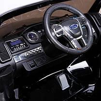 Детский двухместный электромобиль AT Ford Ranger 4X4 Black (F 650), фото 2