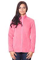 Теплая женская кофта из флиса. Цвет: розовый, бордовый. рр.S-2XL