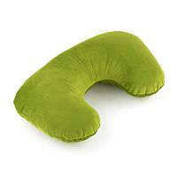 Подушка подголовник зеленый флок_под нанесение