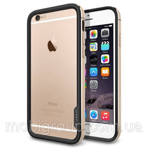 Бампер Spigen для iPhone 6S Plus/6 Plus Neo Hybrid EX Metal, Champagne Gold