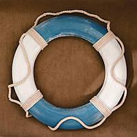 Спасательный круг голубой большой