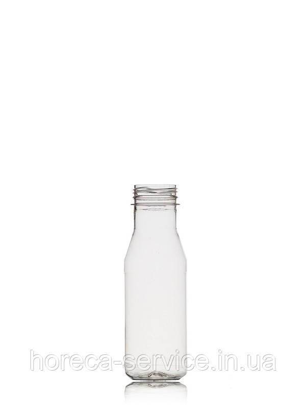 Бутылка пластиковая круглая с крышкой, 250мл.