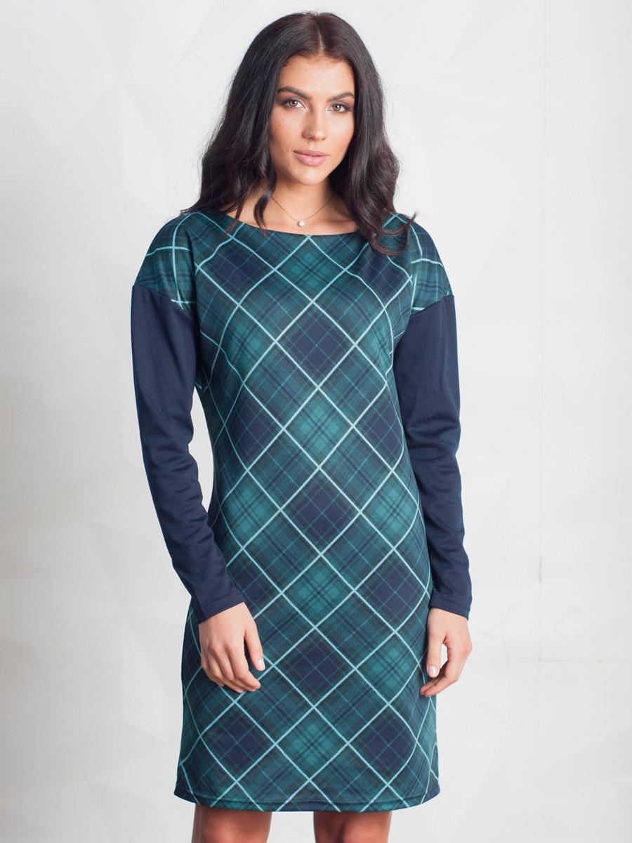 Повсякденне зелене плаття в ромб