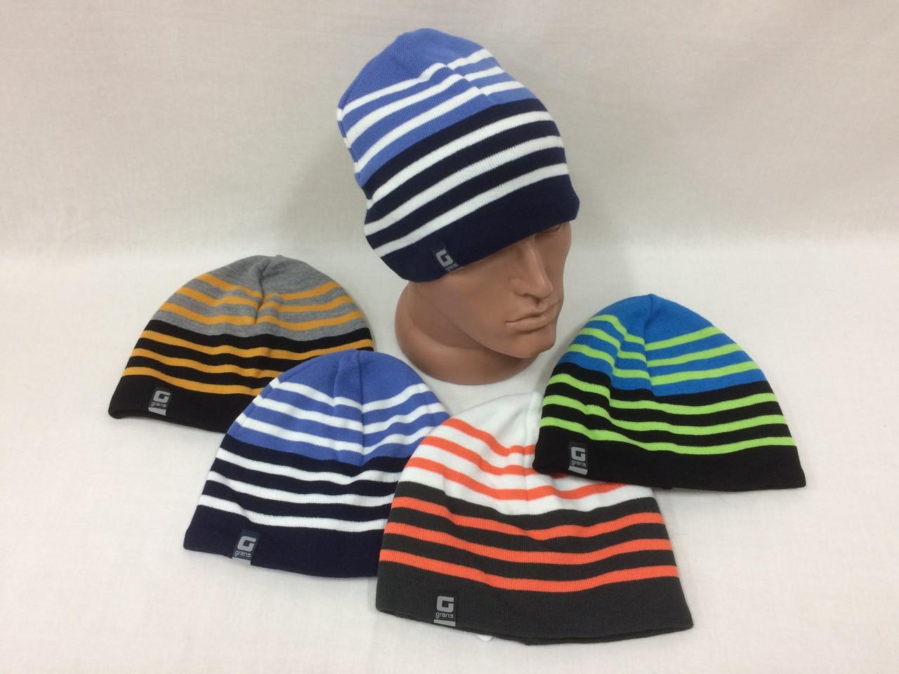 подростковые вязаные шапки для мальчиков р54 56 польша купить