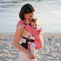 Эрго рюкзак Love & Carry® DLIGHT из шарфовой ткани - Флора