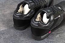 Мужские зимние кроссовки Reebok черные на меху, фото 2
