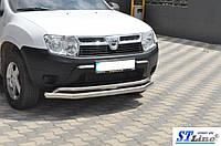 Захисний обвіс переднього бампера ST017 до Renault Duster 2008+ рр.