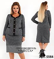 Женский теплый костюм юбка и пиджак полушерсть размеры 48,50,52,54,56,58