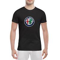 GlobusPioner Мужская футболка Alfa romeo big logo 66536 , фото 1