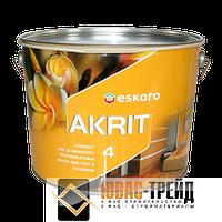 ТМ Escaro  Akrit 4 - глубокоматовая краска для стен и потолков (ТМ  Эскаро  Акрит 4), 9,5 л