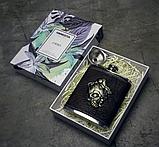 Фляга в кожаном чехле «Gothic» 7 oz / 210 г., фото 5